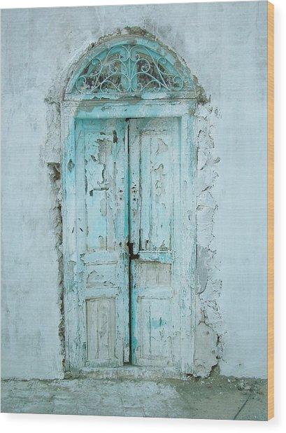 Abandoned Doorway Wood Print