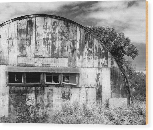 Abandoned Ww2 Quonset Hut Wood Print