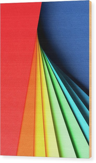 Abstract Background With Color Papers Wood Print by Colormos