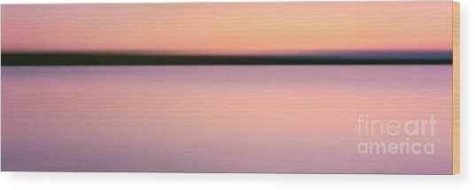 Abstract Sunset 2 Wood Print