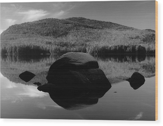 Pharoah Lake Reflections Wood Print