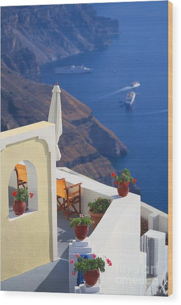 Aegean View Wood Print