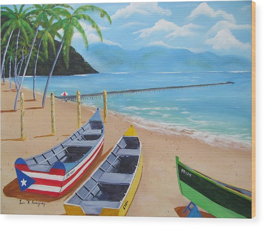 Aguadilla Crashboat Beach Wood Print