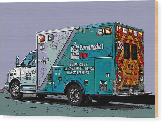 Alameda County Medical Support Vehicle Wood Print