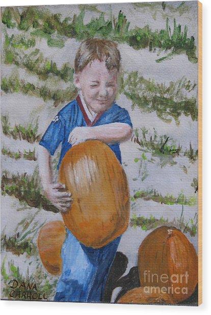 Alex And The Great Pumpkin 1488aa Wood Print by Dana Carroll