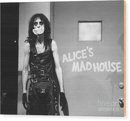 Alice Cooper 1979 Wood Print by Chris Walter
