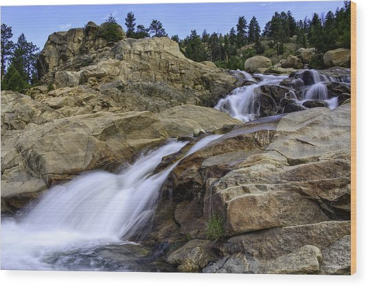 Alluvial Fan Wood Print by Tom Wilbert