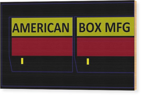 American Box Mfg Wood Print