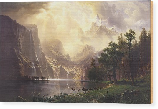 Among The Sierra Nevada Mountains California Wood Print