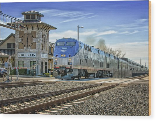Wood Print featuring the photograph Amtrak 112 by Jim Thompson