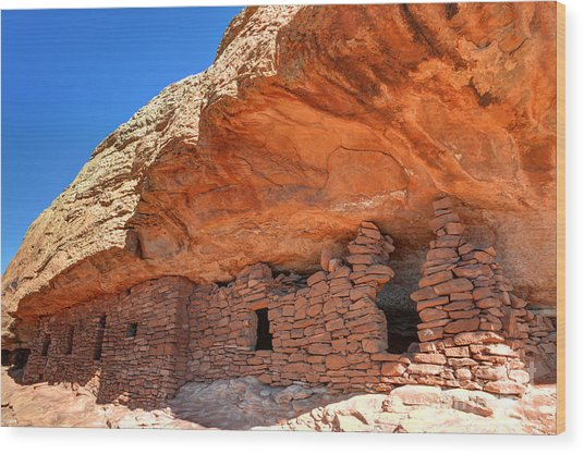 Anasazi Citadel Ruin - Cedar Mesa Wood Print