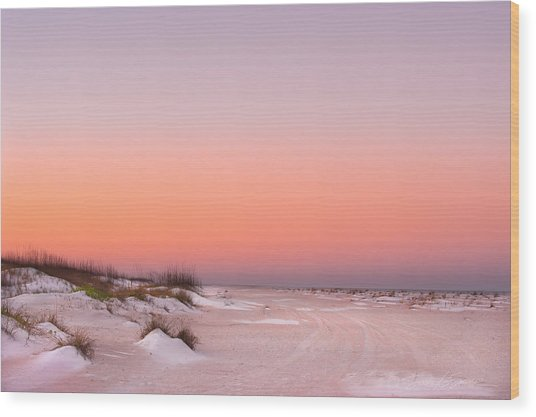 Anastasia Beach Sunset Wood Print
