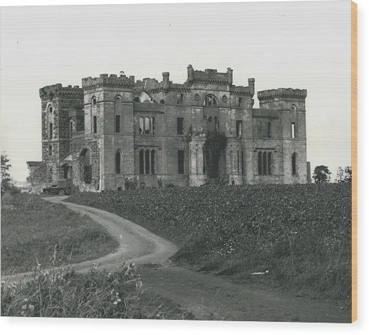 Ancient Castle Goes Up In Smoke. Blown Up By 500 Of Wood Print by Retro Images Archive