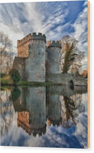Ancient Whittington Castle In Shropshire England Wood Print