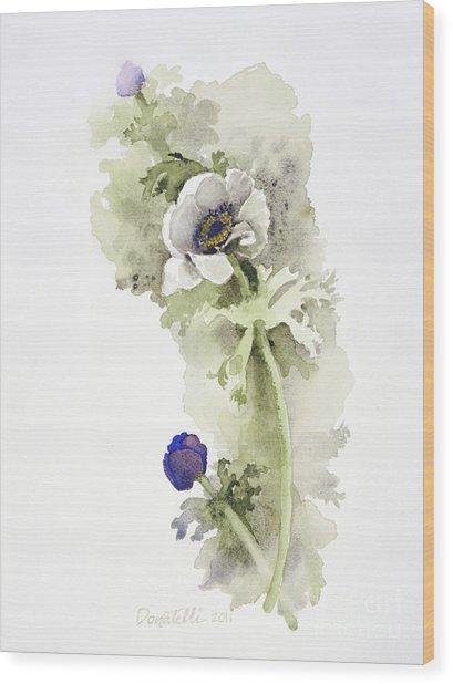 Anemone 4 Wood Print