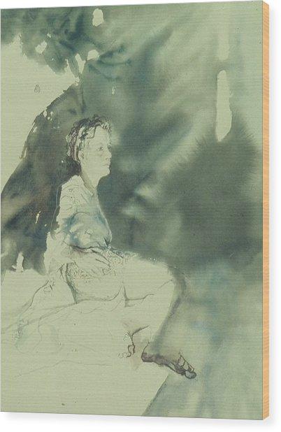 Annunciation Wood Print by Chae Min Shim