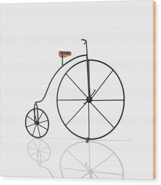 Antique Bicycle Wood Print by Kitty Ellis