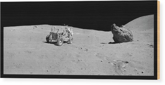 Apollo 16 Lunar Rover Wood Print