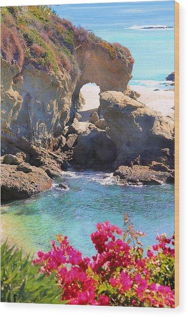 Arch Rock Laguna Wood Print