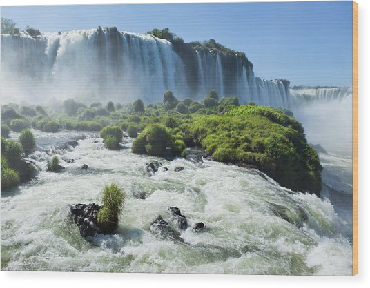 Argentina Iguazu Waterfalls Garganta Wood Print by Grafissimo