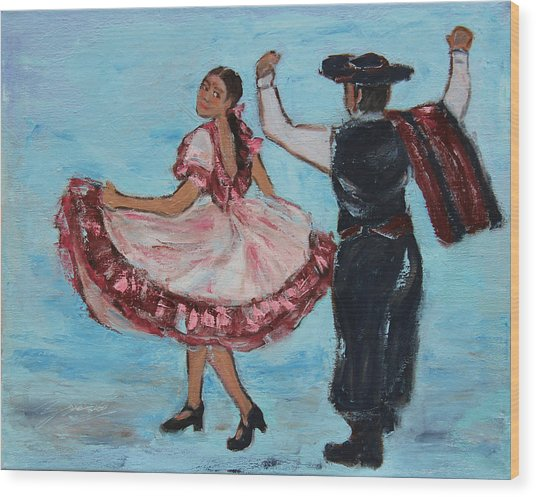 Argentinian Folk Dance Wood Print