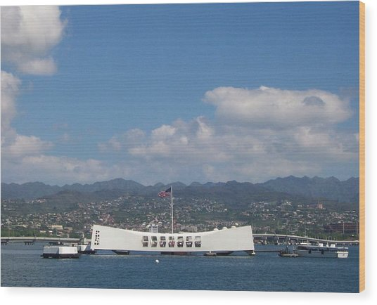 Arizona Memorial  Wood Print