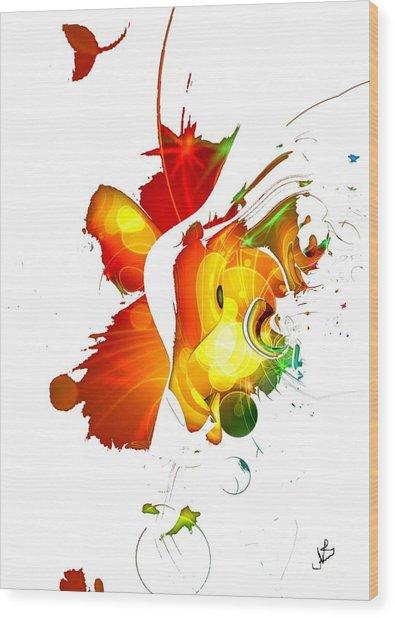 Art-abstract By Nico Bielow Wood Print