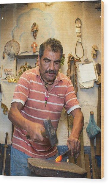Artisan Metal Worker Wood Print