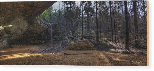 Ash Cave Panorama Wood Print