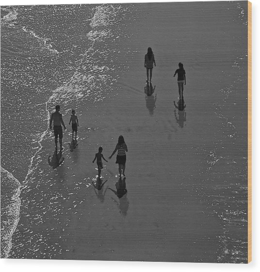 Atlantic City Beach 2 Wood Print by Thomas Camp