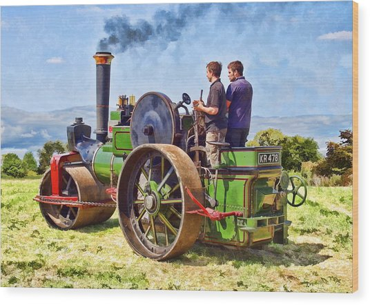 Wood Print featuring the photograph Aveling Roller by Paul Gulliver