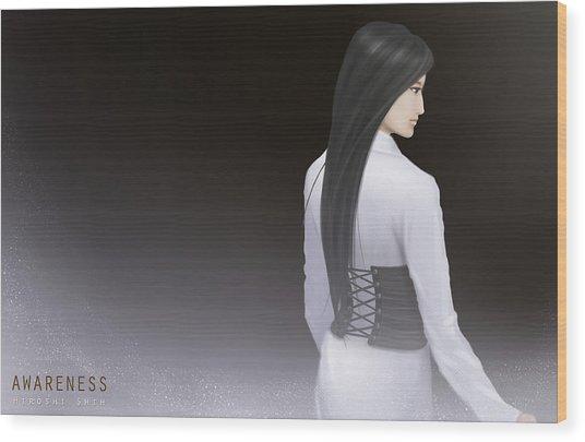 Awareness Ver.b Wood Print by Hiroshi Shih