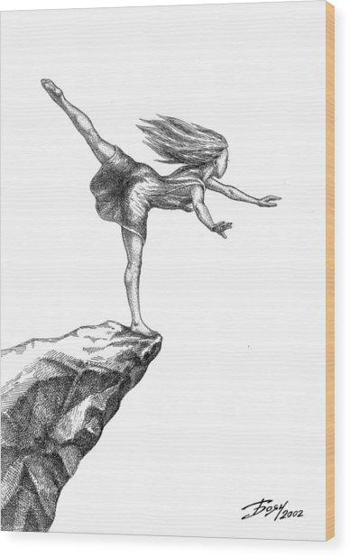 Balance Wood Print by Boyan Donev