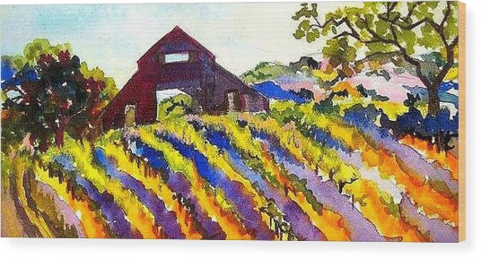 Barn In Sonoma Wood Print