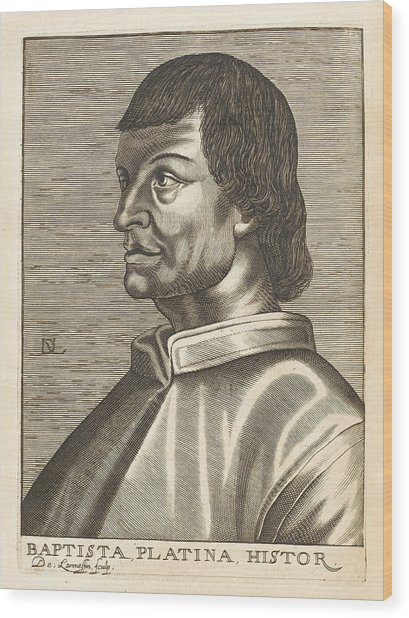 Bartolommeo De Sacchi Known Wood Print by Mary Evans Picture Library