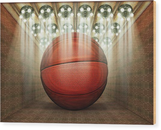 Basketball Museum Wood Print