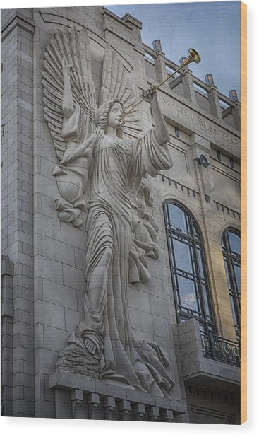 Bass Hall Angel Wood Print