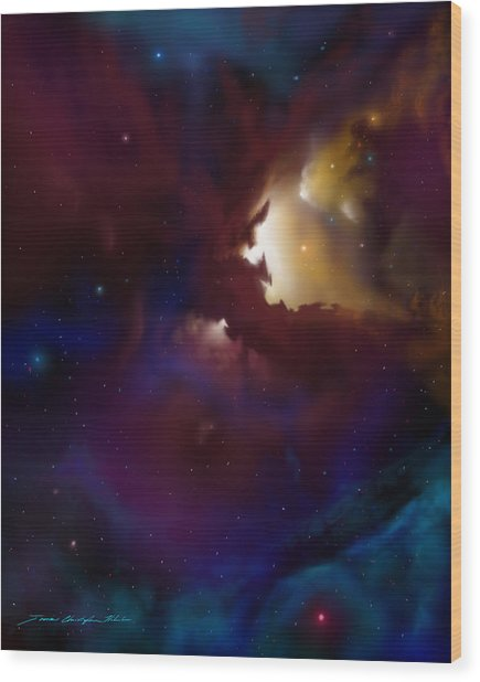 Bat Nebula Wood Print