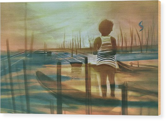 Batang Pinoy 1980 Wood Print