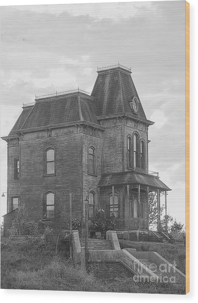 Bates Motel Wood Print