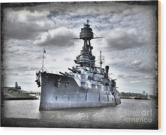 Battleship Texas Wood Print