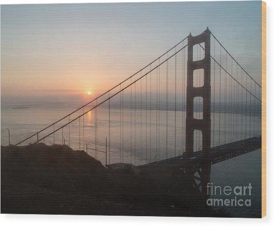 Golden Gate Bridge - 145 Wood Print by Stephen Parker