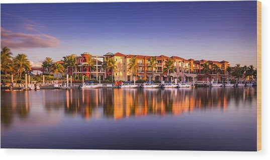 Bay Resort Naples Florida Wood Print
