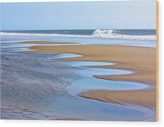 Beach Hand Wood Print