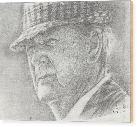 Bear Bryant Wood Print