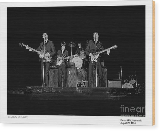 Beatles - 9 Wood Print