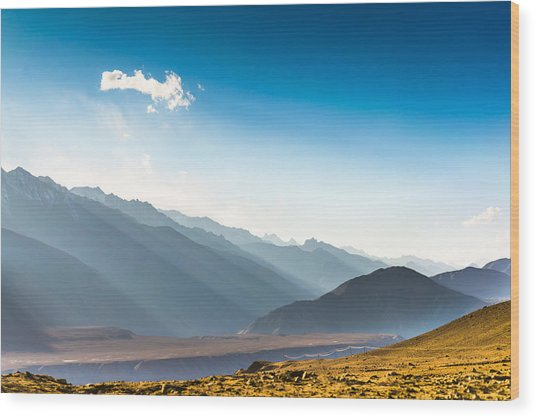 Beautiful Landscape In Norther Part Of India Wood Print by Primeimages