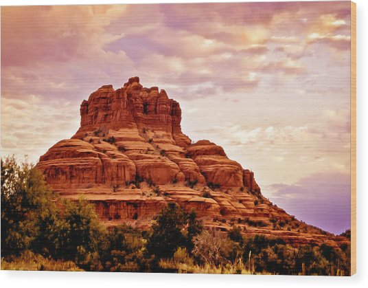 Bell Rock Vortex Painting Wood Print