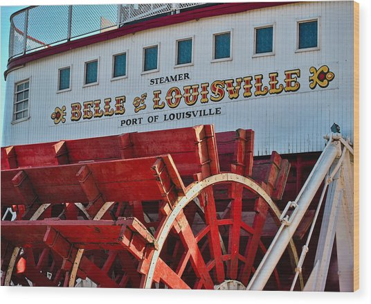 Belle Of Louisville Wood Print
