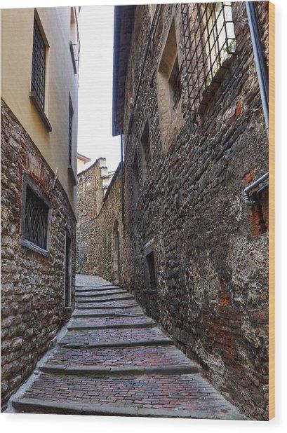 Bergamo Alta Wood Print